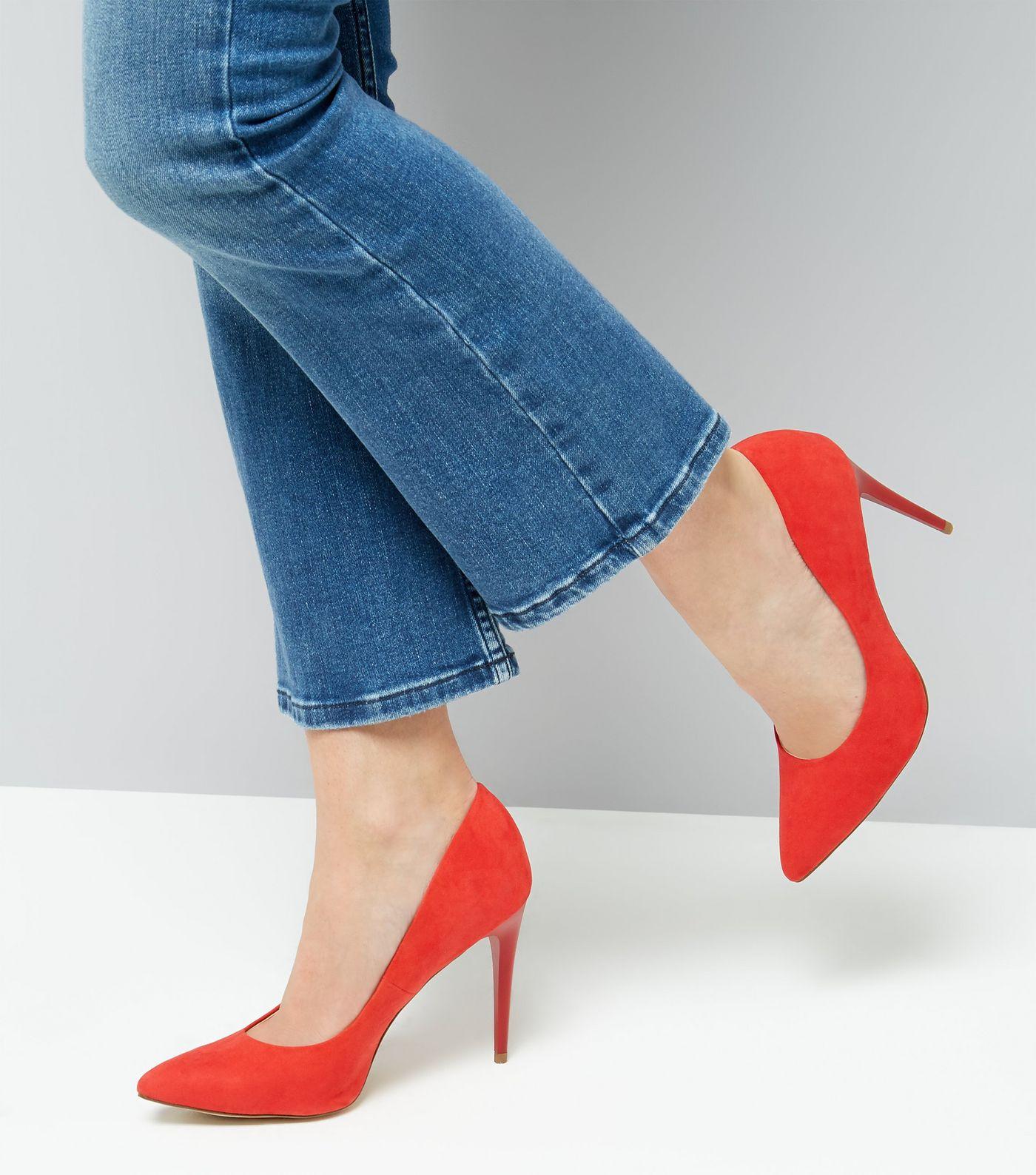 Suedette Court Heels