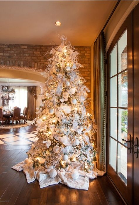 White Christmas Tree Goals Decorations