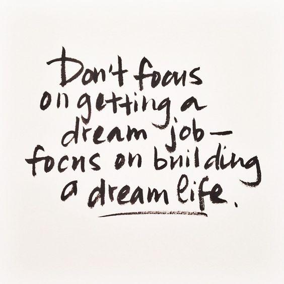 Dream Life Quote
