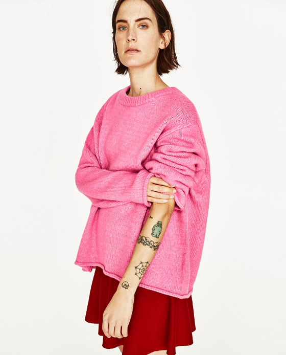 Pink Colour Jumper Zara