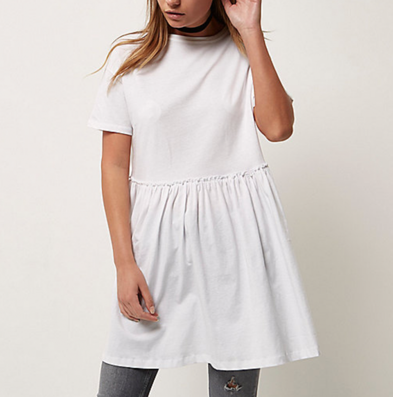 White Smock Dress River Island