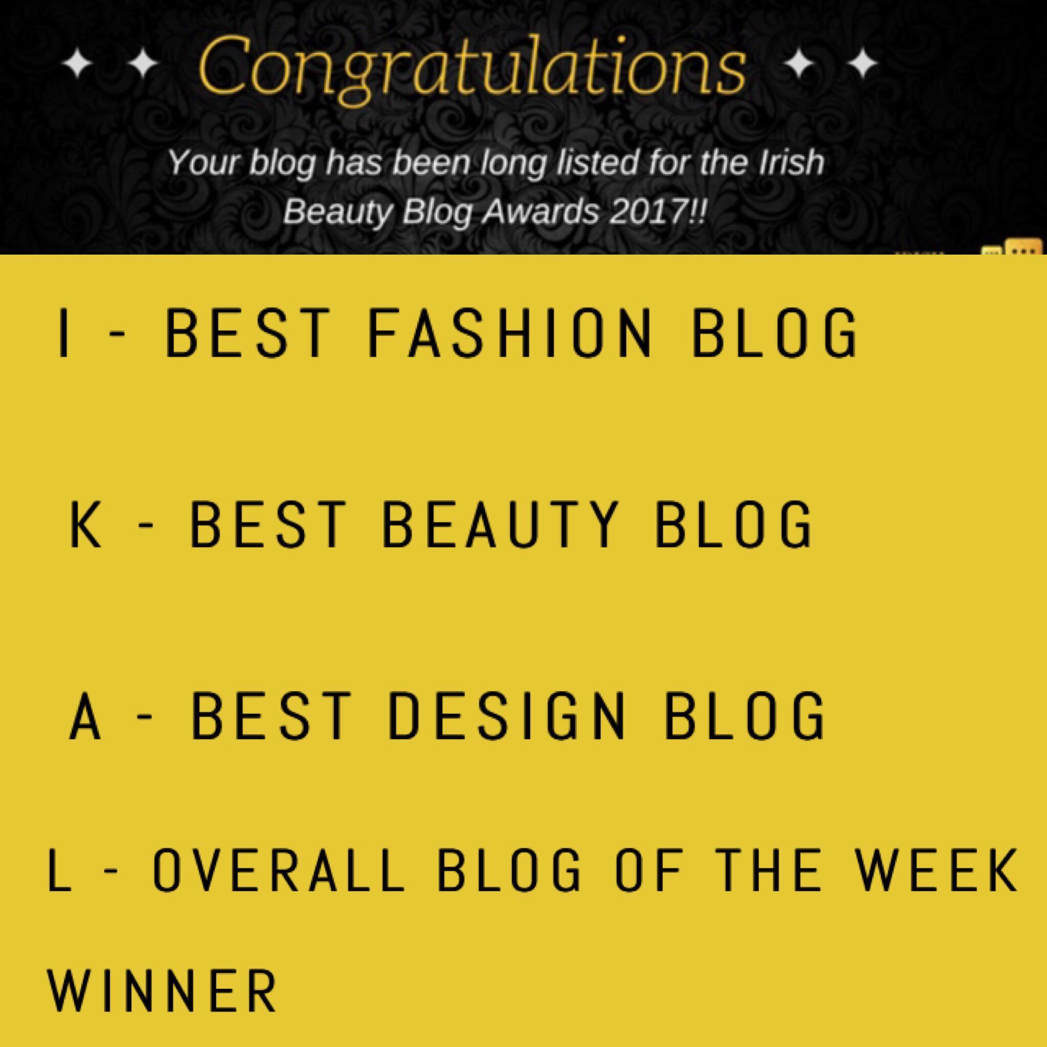 Irish Beauty Blog Awards