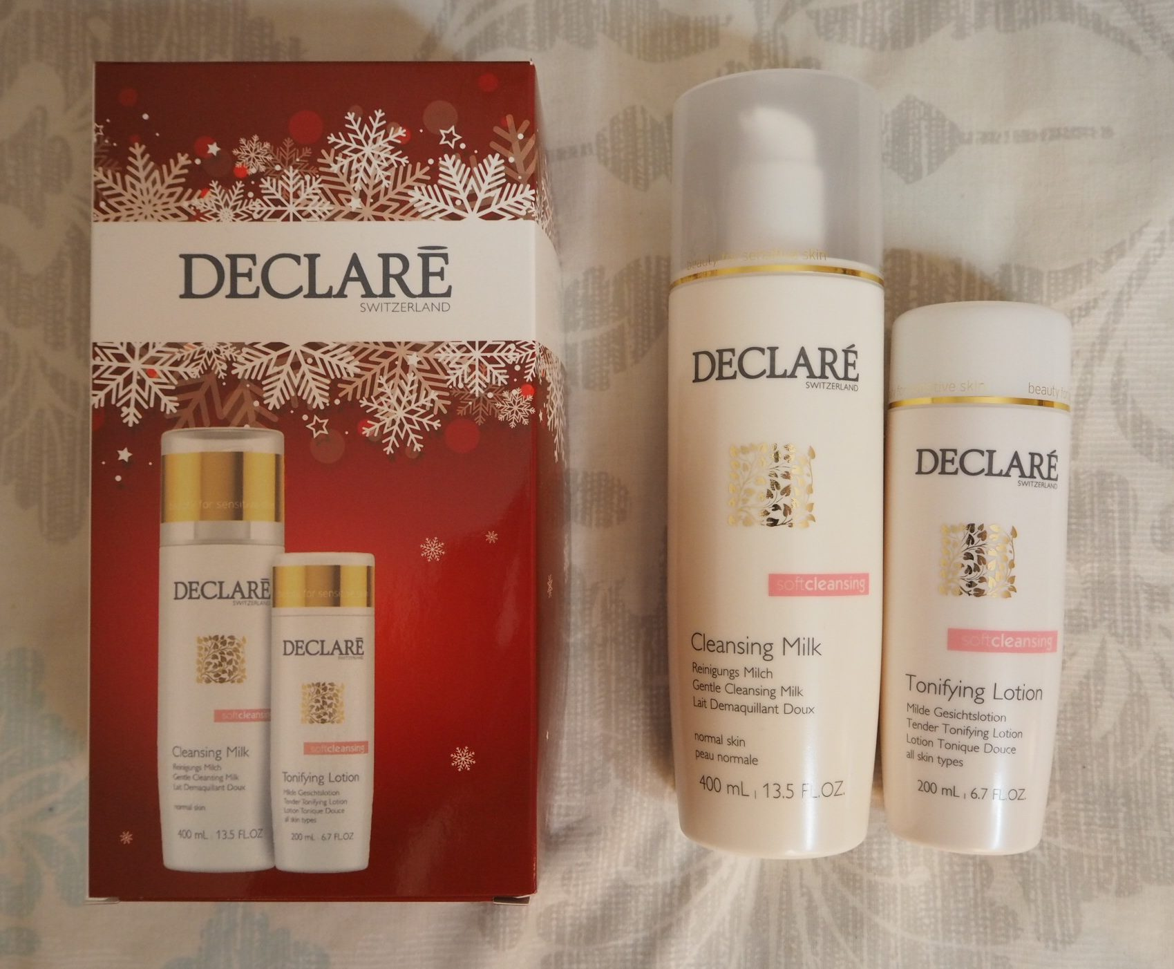 Declaré Cleansing Milk and Tonifying Lotion Gift Set