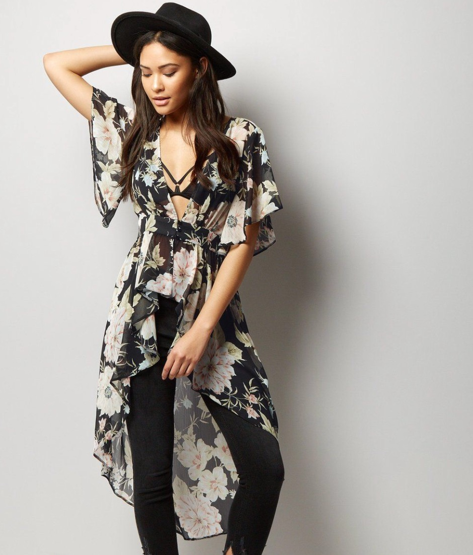 New Look Floral Frill Kimono