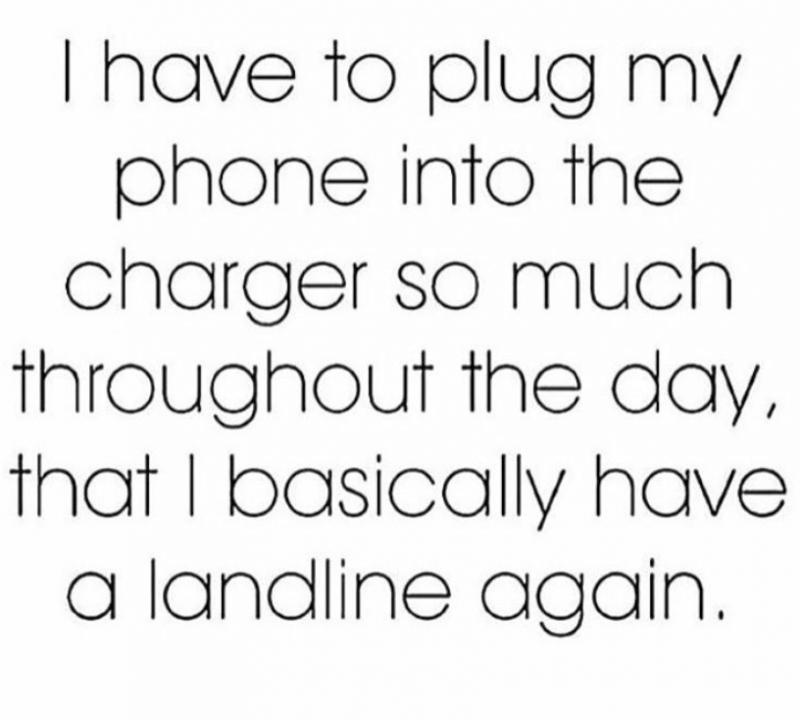Phone Landline Charging meme quote