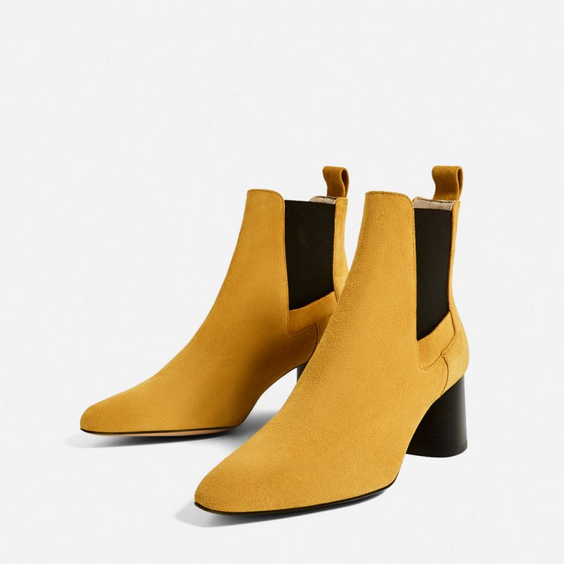 Mustard Colour Boots