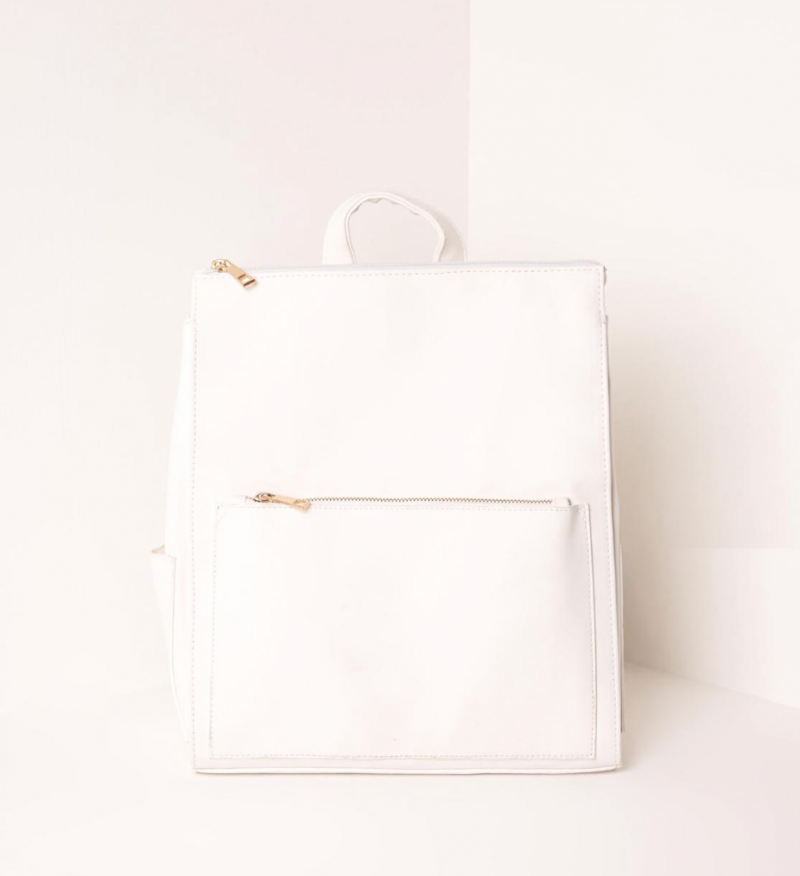 White Backpack Missguided