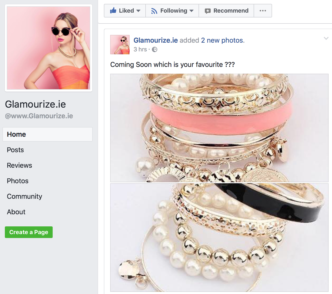 Facebook Fashion Accessories