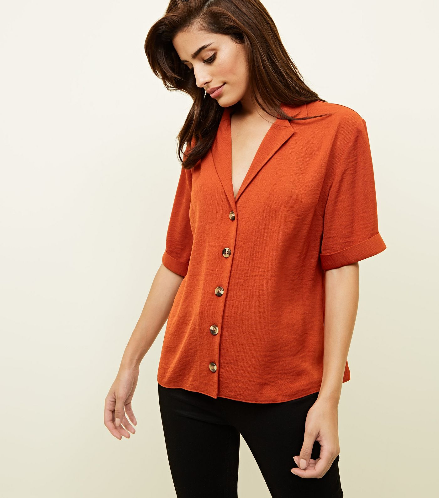 New Look Button Front Shirt